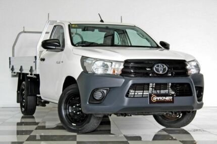2016 Toyota Hilux TGN121R Workmate White 6 Speed Automatic Cab Chassis Burleigh Heads Gold Coast South Preview