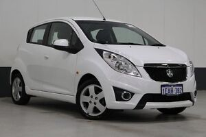 2011 Holden Barina TK MY11 White 5 Speed Manual Hatchback Bentley Canning Area Preview