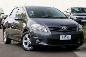 2010 Toyota Corolla ZRE152R MY11 Conquest Grey 4 Speed Automatic Hatchback Ringwood East Maroondah Area Preview