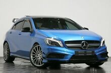 2014 Mercedes-Benz A45 W176 AMG SPEEDSHIFT DCT 4MATIC Blue 7 Speed Sports Automatic Dual Clutch Hatc Rozelle Leichhardt Area Preview