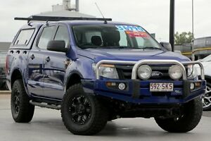 2012 Ford Ranger PX XL Double Cab Blue 6 Speed Sports Automatic Utility Brendale Pine Rivers Area Preview