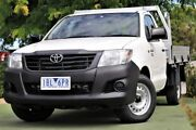 2014 Toyota Hilux TGN16R MY14 Workmate 4x2 White 4 Speed Automatic Cab Chassis Berwick Casey Area Preview