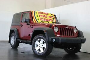 2011 Jeep Wrangler JK MY09 Sport (4x4) Maroon 6 Speed Manual Softtop Underwood Logan Area Preview