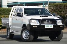 2013 Toyota Hilux KUN26R MY14 SR Double Cab Glacier White 5 Speed Manual Cab Chassis Acacia Ridge Brisbane South West Preview