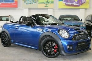 2012 Mini Roadster R59 John Cooper Works Blue 6 Speed Manual Roadster Southbank Melbourne City Preview