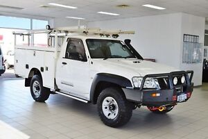 2011 Nissan Patrol MY11 Upgrade DX (4x4) White 5 Speed Manual Cab Chassis Morley Bayswater Area Preview
