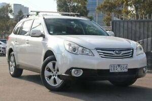 2009 Subaru Outback B5A MY10 2.5i Lineartronic AWD White 6 Speed Constant Variable Wagon Docklands Melbourne City Preview