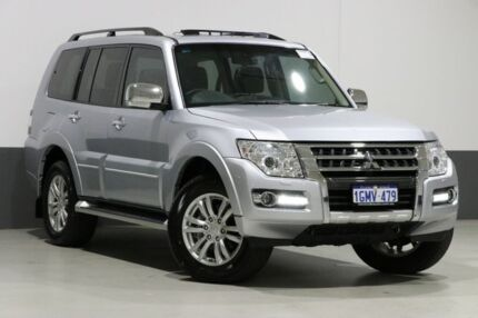 2017 Mitsubishi Pajero NX MY18 Exceed LWB (4x4) Silver 5 Speed Auto Sports Mode Wagon Bentley Canning Area Preview