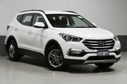 2016 Hyundai Santa Fe DM Series II (DM3) Active CRDi (4x4) White 6 Speed Automatic Wagon Bentley Canning Area Preview
