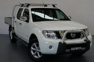 2012 Nissan Navara D40 S5 MY12 ST-X 550 Arctic White 7 Speed Sports Automatic Utility Glendale Lake Macquarie Area Preview