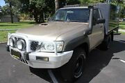 2008 Nissan Patrol GU MY08 DX (4x4) Gold 5 Speed Manual Coil Cab Chassis Bungalow Cairns City Preview