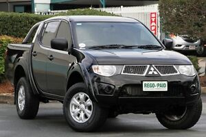 2012 Mitsubishi Triton MN MY13 GL-R Double Cab Black 5 Speed Manual Utility Acacia Ridge Brisbane South West Preview
