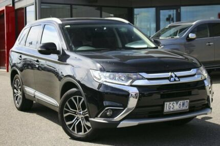 2015 Mitsubishi Outlander ZK MY16 LS 2WD Black 6 Speed Constant Variable Wagon