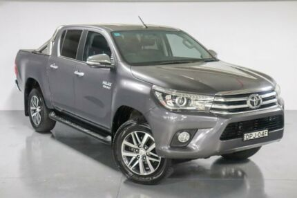 2016 Toyota Hilux GUN126R SR5 Double Cab Grey 6 Speed Sports Automatic Utility Waitara Hornsby Area Preview