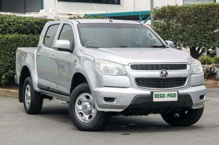 2014 Holden Colorado RG MY14 LX Crew Cab Silver 6 Speed Manual Utility