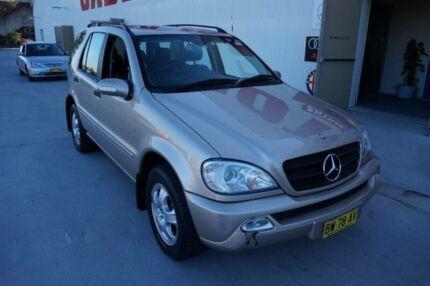 2002 Mercedes-Benz ML W163 320 (4x4) Gold 5 Speed Auto Tipshift Wagon Milperra Bankstown Area Preview