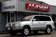 2006 Toyota Landcruiser HDJ100R Sahara Silver 5 Speed Automatic Wagon Ringwood Maroondah Area Preview