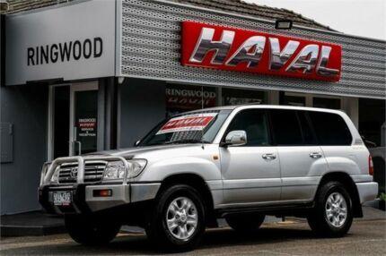 2006 Toyota Landcruiser HDJ100R Sahara Silver 5 Speed Automatic Wagon Ringwood Maroondah Area Preview