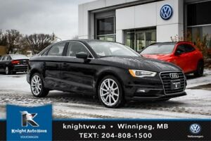 2015 Audi A3 Quattro AWD w/ Leather/Sunroof