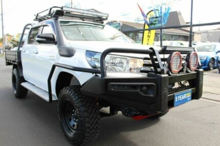 2015 Toyota Hilux GUN126R SR Double Cab White 6 Speed Manual Utility West Footscray Maribyrnong Area Preview