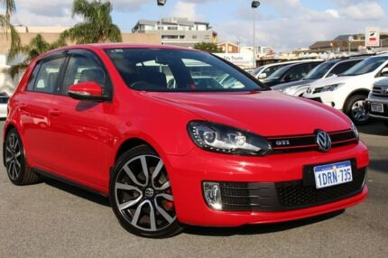 2011 Volkswagen Golf VI MY11 GTI DSG Adidas Red 6 Speed Sports Automatic Dual Clutch Hatchback Northbridge Perth City Preview
