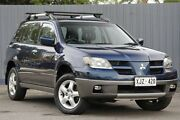 2003 Mitsubishi Outlander ZE XLS Blue 4 Speed Sports Automatic Wagon Blair Athol Port Adelaide Area Preview