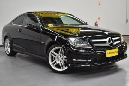 2012 Mercedes-Benz C250 C204 BlueEFFICIENCY 7G-Tronic + Black/Grey 7 Speed Sports Automatic Coupe Brooklyn Brimbank Area Preview
