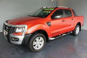 2012 Ford Ranger PX Wildtrak Double Cab Orange 6 Speed Sports Automatic Utility Parramatta Park Cairns City Preview
