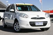 2014 Nissan Micra K13 MY13 ST White 5 Speed Manual Hatchback Cannington Canning Area Preview