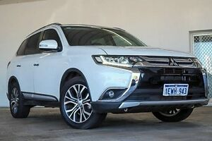 2015 Mitsubishi Outlander ZK MY16 Exceed 4WD White 6 Speed Sports Automatic Wagon Embleton Bayswater Area Preview