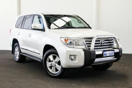 2015 Toyota Landcruiser VDJ200R MY13 Sahara Crystal Pearl 6 Speed Sports Automatic Wagon Rockingham Rockingham Area Preview