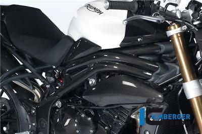 Ilmberger Carbon Fibre Frame Cover Protectors Triumph Speed Triple 1050 2011-15