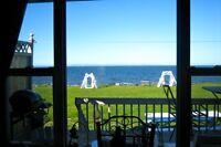 Oceanfront cottages.