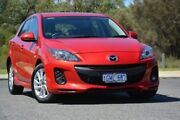 2012 Mazda 3 BL10F2 MY13 Maxx Activematic Sport Red 5 Speed Sports Automatic Hatchback Wilson Canning Area Preview