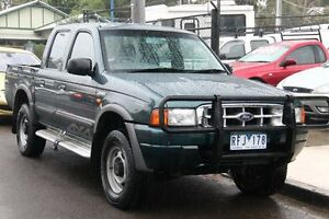2001 Ford Courier PE XL (4x4) Dark Green 5 Speed Manual 4x4 Briar Hill Banyule Area Preview