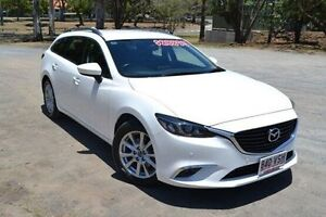 2014 Mazda 6 GJ1031 MY14 Touring SKYACTIV-Drive White 6 Speed Sports Automatic Wagon Taringa Brisbane South West Preview