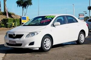 2007 Toyota Corolla ZZE122R 5Y Ascent White 4 Speed Automatic Sedan Gympie Gympie Area Preview