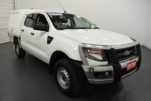 2012 Ford Ranger PX XL 2.2 HI-Rider (4x2) White 6 Speed Automatic Crew C/Chas Moorabbin Kingston Area Preview