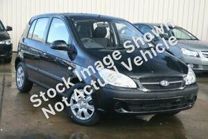 2010 Hyundai Getz TB MY09 S Black 5 Speed Manual Hatchback Wangara Wanneroo Area Preview