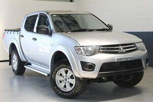 2013 Mitsubishi Triton MN MY13 GLX Double Cab Silver 5 Speed Manual Utility Blair Athol Port Adelaide Area Preview