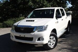 2012 Toyota Hilux KUN26R MY12 SR Double Cab White 5 Speed Manual Utility Hawthorn Mitcham Area Preview