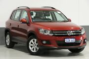 2013 Volkswagen Tiguan 5NC MY13.5 132 TSI Pacific Red 7 Speed Auto Direct Shift Wagon Bentley Canning Area Preview