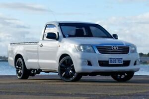 2012 Toyota Hilux TGN16R Workmate White Manual Cab Chassis Bunbury Bunbury Area Preview
