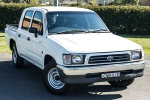 1999 Toyota Hilux LN147R White 5 Speed Manual Dual Cab Pick-up Riverstone Blacktown Area Preview