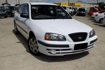 2004 Hyundai Elantra XD MY04 White 4 Speed Automatic Hatchback