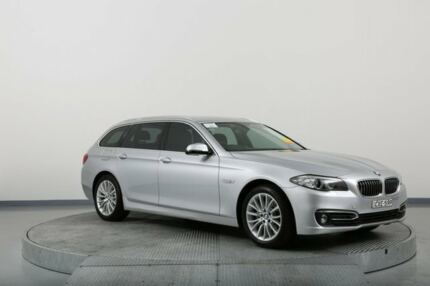 2015 BMW 520D F11 MY15 Touring Luxury Line Silver 8 Speed Automatic Wagon