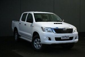2012 Toyota Hilux White Manual Utility Cranbourne Casey Area Preview
