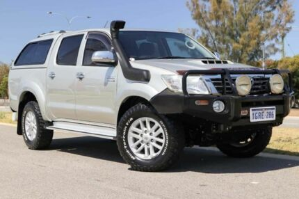 2013 Toyota Hilux KUN26R MY12 SR5 Double Cab Sterling Silver 4 Speed Automatic Utility Clarkson Wanneroo Area Preview