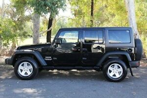 2012 Jeep Wrangler JK MY2013 Unlimited Sport Black 5 Speed Automatic Softtop Valley View Salisbury Area Preview