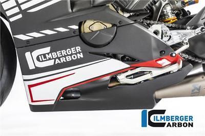 Ilmberger MATT Carbon Bellypan For Slip-On Akrapovic Ducati Panigale V4 2018